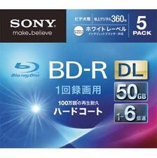 New 5 Sony Printable Blu-ray 50GB 6x Dual Layer BD-R DL Blank Disc Media Japan
