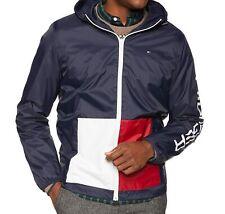 Tommy Hilfiger Men's Jackets Blue Size Medium M Rainwear Hooded $129- 326