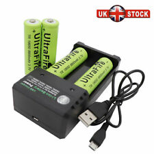 4X 18650 Battery 8800mAh 3.7V Li-ion Rechargeable Batteries with USB Charger UK