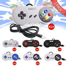 2x iNNEXT SNES USB Wired Game Controller Gamepad for Windows PC Mac Raspberry Pi