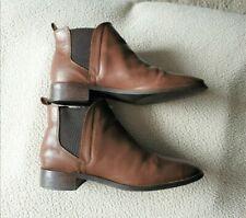 Top Shop Ladies Dark Tan Chelsea ankle Boots Size 7