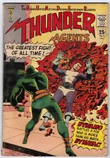 T.H.U.N.D.E.R. Agents 2 (1966) VG+ Death of Egghead!! A-Bomb Blast Panel!