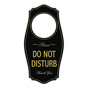 Please DO NOT DISTURB Door Hanger