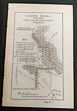 Original 1905 Lemon Creek New York Staten Island Condition of Improvement Map