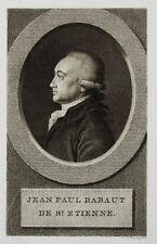 c1800 Rabaut Saint-Etienne Französische Revolution Kupferstich-Porträt Claessens
