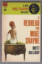 Brett Halliday -A Redhead for Mike Shayne - Dell 7329 Robert McGinnis cover 1964