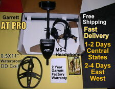 Garrett At Pro Metal Detector with Ms-2 Headphones Fast * Free Shipping