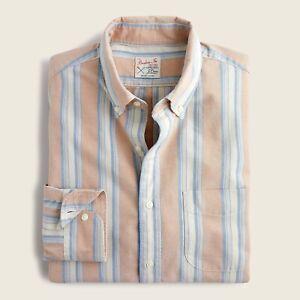 NWT J CREW MEN Slim Untucked Broken-In Organic Cotton Oxford Shirt, Size L
