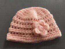 Baby Girl Soft Pink Crochet Beanie Hat suit Newborn