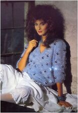 Ladies' Mohair Sequin Trimmed V Neck Sweater Vintage Knitting Pattern