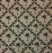MARCOVALDO PALMETTO TREES TAUPE CHENILLE HEAVY UPHOLSTERY FABRIC BY THE YARD