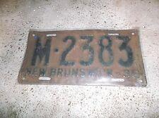 1936 NEW BRUNSWICK LICENSE PLATE M 2383