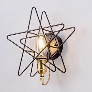 Gold Star Wall Sconce Led Bedroom Lamp Modern Dining Room Light Fixture Art Deco