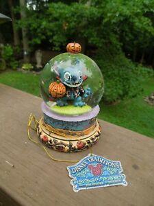 Jim Shore Disney Traditions Vampire STITCH OR TREAT Mini Snow Globe RARE 4023563