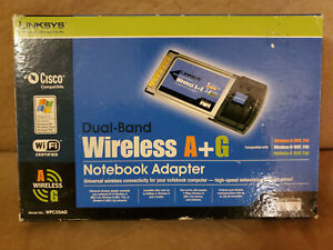 Linksys WPC55AG Dual Band Wireless A+G notebook adapter