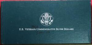 Uncirculated 1994 U.S. Veterans Commemorative 3 Coin Silver Dollars Set
