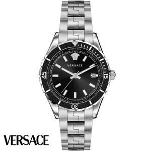 Versace VE3A00520 Hellenyium black silver Stainless Steel Men's Watch NEW