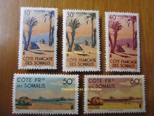 EBS French Somaliland Côte française des Somalis 1945 Colonial Scenes MNH**
