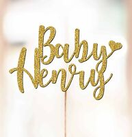 Personalised Baby Shower Cake Topper Decorations ANY NAME Baby Shower P1040