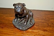 VINTAGE J. SPOUSE BRONZE BULL DOG FIGURINE  **RARE**