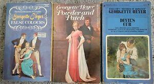 GEORGETTE HEYER 3 BOOK LOT VINTAGE ROMANCE PB REGENCY HISTORICAL ROMANCE NOVELS