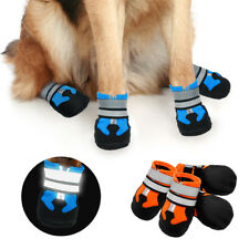 4pcs Reflective Dog Anti Slip Shoes Waterproof for Medium Large Dogs Snow Boots