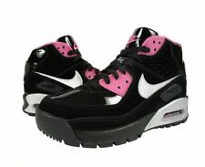 Nike Air Max 90 Mid Girls Black/Silver/Pink Boots Youth (Size: 7y) 317221-001