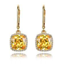 925 Silver Citrine Topaz Gemstone Gem Birthstone Drop Dangle Earrings Wholesale