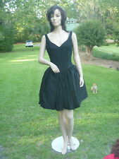 Vintage Gunne Sax Party Prom Litlle Black Dress Sparkly Lace Fluffy Taffeta Sz M