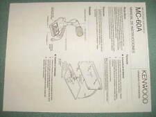 Kenwood MC 60a microphone operating manual in Spanish for ham radio, copy