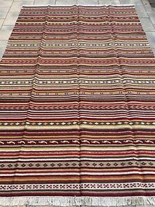 Kelim Kilim Flatweave Teppich Carpet Rug Orient Art Antik Perser Kunst Vintage