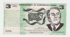 Government of Australia - Utah $3 political note Malcolm Fraser F-556