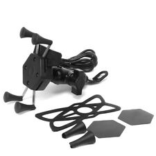 Cycling Mounts Holder with USB Charger for Motorcycle Bikes Stands for Phones