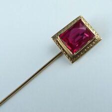 Para 1900: alfiler prendedor 333er Gold farbstein rojo