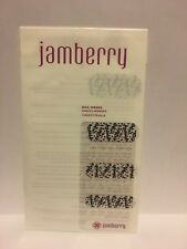 New JAMBERRY Nail Wraps INTO THE WILD Clear Black White Words RETIRED Half Sheet