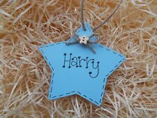 Personalised Name Plaque Star Tag Wooden Plaque Gift Keepsake