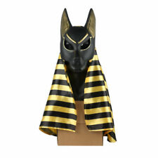 Egyptian Anubis Mask Halloween Cosplay Wolf Masquerade Anubis Mask Hood Props