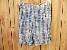 Hollister Shorts Flat Front Plaid Checked Bermuda Casual Size 32 Men's