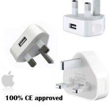 Apple iPhone 6S 6 5 5S 5C 4S 4 UK AC Plug Wall Mains USB Charger Adapter