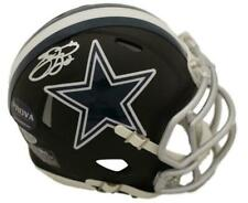 Emmitt Smith Autographed/Signed Dallas Cowboys Black Mini Helmet BAS 22724