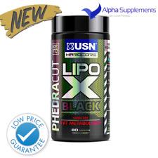 USN Lipo X Black Fat Burner Metaboliser Phedracut KETO 80 Caps