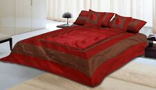 Soft Silk Bedding Set Complete Bed Sheet Cushion Cover 5 PCs Set