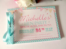 Personalised Guest Book Memory Hen Night Party Wedding Birthday Bunting Shabby