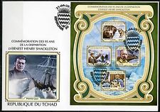 CHAD 2017  95th MEMORIAL ERNEST HENRY SHACKLETON  SHEET FIRST DAY COVER