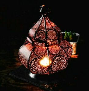 MORROCAN LANTERN LAMP. UNIQUE,AUTHENTIC STYLE, AMBIENT CANDLE LIT. IN/ OUTDOOR