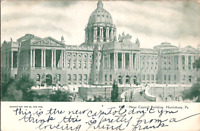 C. 1905 New Capitol Building Street View Harrisburg Pennsylvania PA Postcard