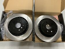 "2008-09 G8 Rear Brembo Conversation Slotted Rotors 14"" Retains parking Brake"