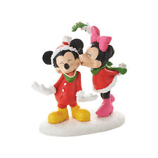Dept 56 Disney Christmas Village Mickeys Christmas Kiss with Minnie 4053053 NEW