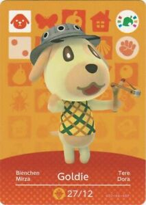 Animal Crossing Amiibo Card 'Limited Edition' Goldie 27/12 Nintendo Wii U / 3DS