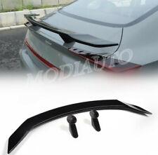 FOR Hyundai Sonata 2020-21 BGlossy black Rear Tail Trunk Spoiler Wing Lip Trim